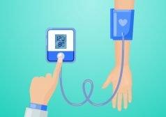 איור של מדידת לחץ דם